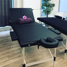Premier Black Aluminium Massage Table - 75cm wide