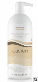Natural Look Glisten Unscented Body Massage Oil 1 litre