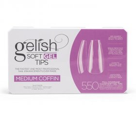 Soft Gel Tips - Medium Coffin - Box 550